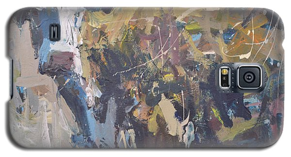 Galaxy S5 Case featuring the painting Modern Abstract Cow Painting by Robert Joyner