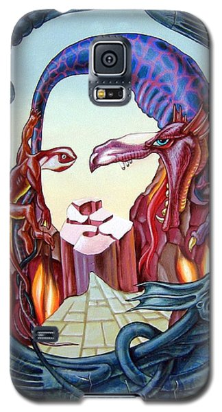 Mona Lisa. Fire Galaxy S5 Case