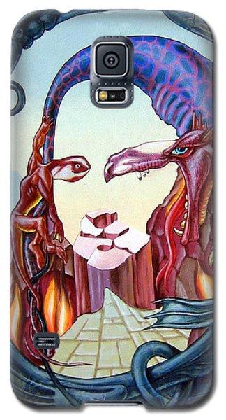 Mona Lisa. Fire Galaxy S5 Case