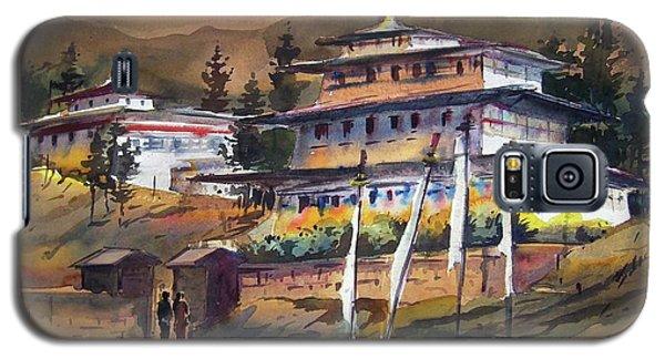 Monastery In Himalaya Mountain Galaxy S5 Case by Samiran Sarkstery in Himalaya Mountainar