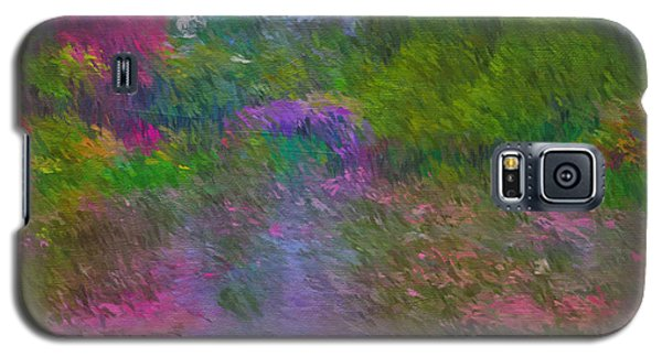 Galaxy S5 Case featuring the mixed media Monet's Lily Pond by Jim  Hatch