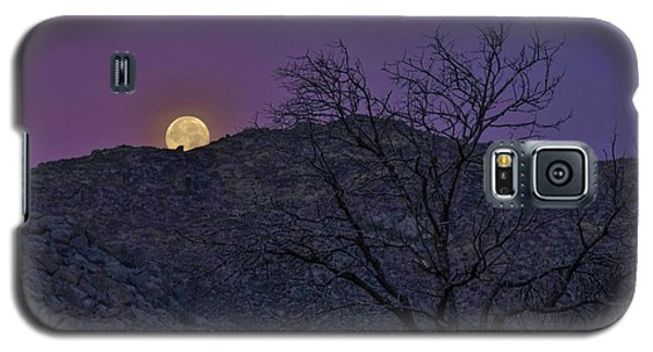 Moon Set At Sunrise Galaxy S5 Case