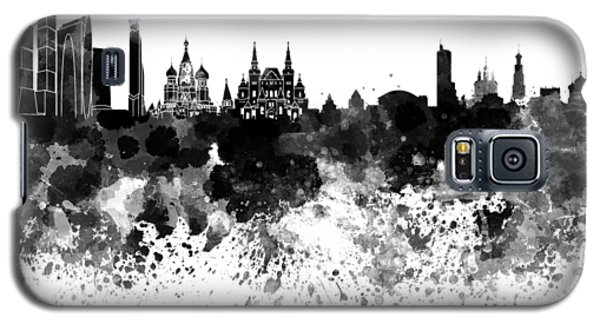 Moscow Skyline White Background Galaxy S5 Case