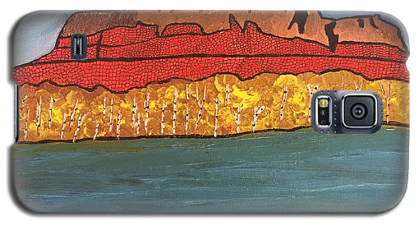 Galaxy S5 Case featuring the painting Mount Mckay by Paula Brown