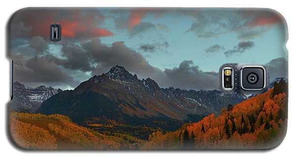 Galaxy S5 Case featuring the photograph Mount Sneffels Sunset During Autumn In Colorado by Jetson Nguyen
