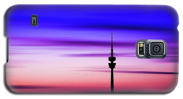 Galaxy S5 Case featuring the photograph Munich - Olympiaturm At Sunset by Hannes Cmarits