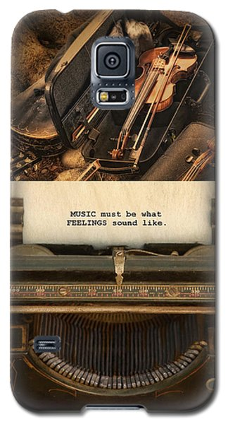 Galaxy S5 Case featuring the photograph Music by Robin-Lee Vieira