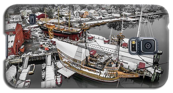 Mystic Seaport In Winter Galaxy S5 Case by Petr Hejl