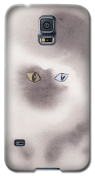 Galaxy S5 Case featuring the painting Mysty Cat by Marc Philippe Joly