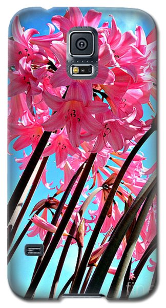 Galaxy S5 Case featuring the photograph Naked Ladies by Vivian Krug Cotton