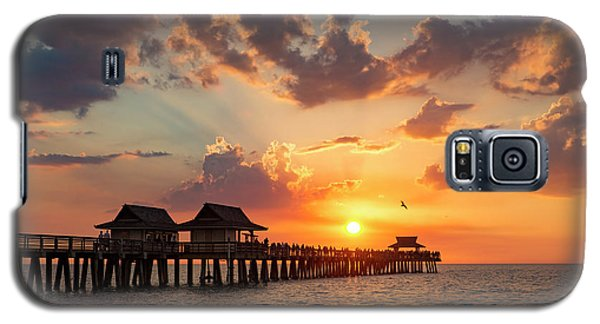 Galaxy S5 Case featuring the photograph Naples Pier At Sunset by Brian Jannsen
