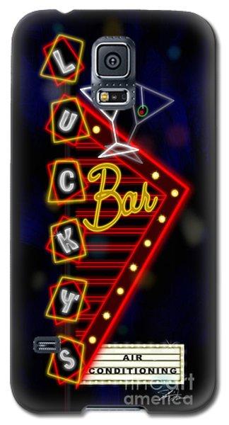 Nightclub Sign Luckys Bar Galaxy S5 Case