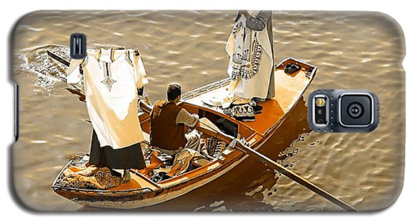 Galaxy S5 Case featuring the photograph Nile River Merchants by Joseph Hendrix