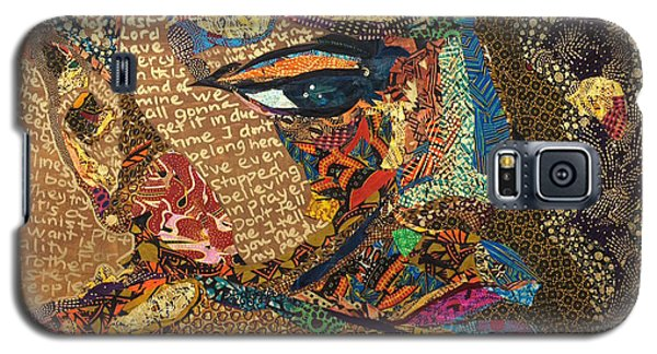 Galaxy S5 Case featuring the tapestry - textile Nina Simone Fragmented- Mississippi Goddamn by Apanaki Temitayo M