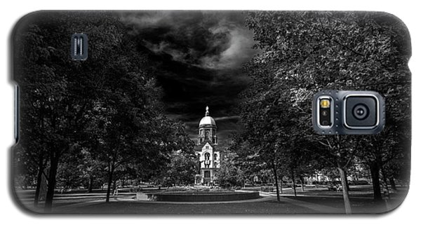 Notre Dame University Black White Galaxy S5 Case by David Haskett