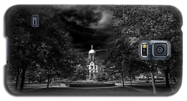 Notre Dame University Black White Galaxy S5 Case
