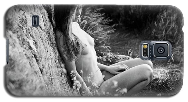 Nude Girl In The Nature Galaxy S5 Case