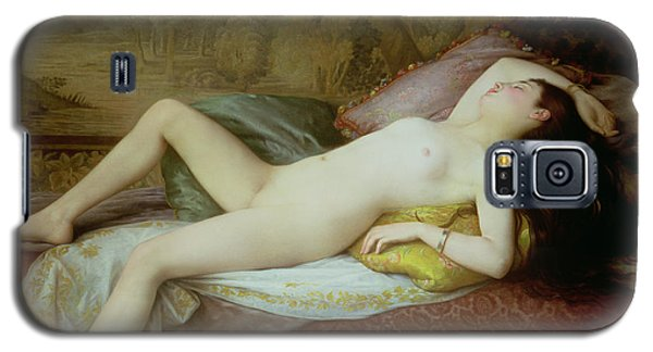 Nudes Galaxy S5 Case - Nude Lying On A Chaise Longue by Gustave-Henri-Eugene Delhumeau