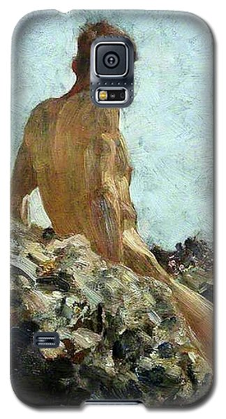 Galaxy S5 Case featuring the painting Nude Study by Henry Scott Tuke