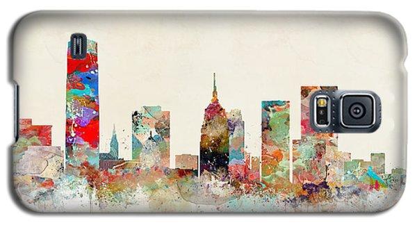Galaxy S5 Case featuring the painting Oklahoma City Oklahoma by Bri B