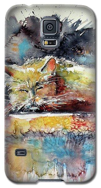 Old Cat Resting Galaxy S5 Case by Kovacs Anna Brigitta