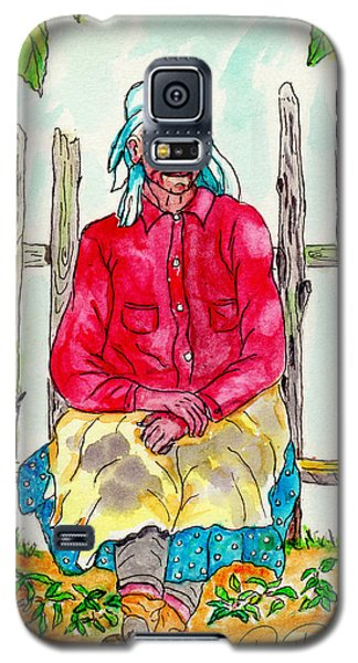 Old Migrant Worker, Resting, Arcadia, Florida 1975 Galaxy S5 Case