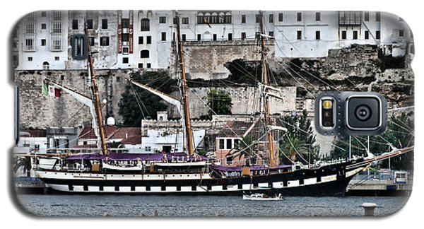 Old Port Mahon And Italian Sail Training Vessel Palinuro Hdr Galaxy S5 Case
