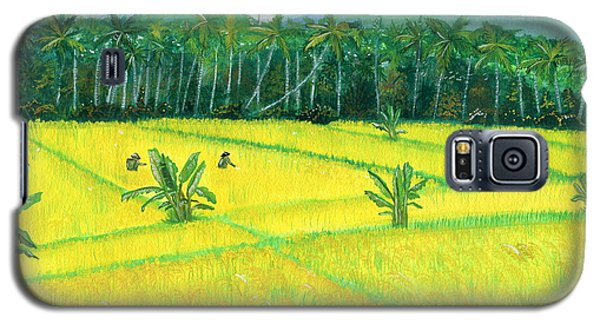 Galaxy S5 Case featuring the painting On The Way To Ubud II Bali Indonesia by Melly Terpening