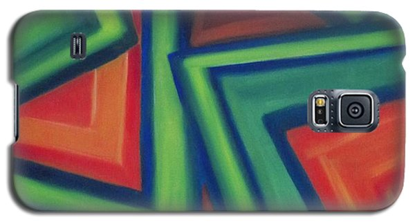Galaxy S5 Case featuring the painting Orange And Green by Patricia Cleasby