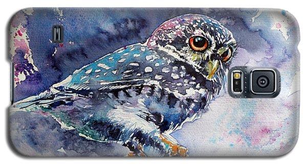 Owl At Night Galaxy S5 Case by Kovacs Anna Brigitta