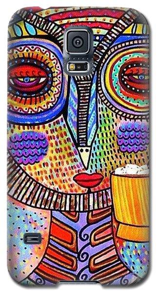 Owl Goddess Drinking Hot Chocolate Galaxy S5 Case