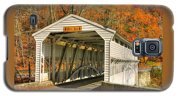Pa Country Roads - Knox Covered Bridge Over Valley Creek No. 2a - Valley Forge Park Chester County Galaxy S5 Case