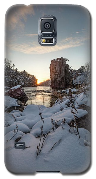 Galaxy S5 Case featuring the photograph  Palisades First Snow by Aaron J Groen