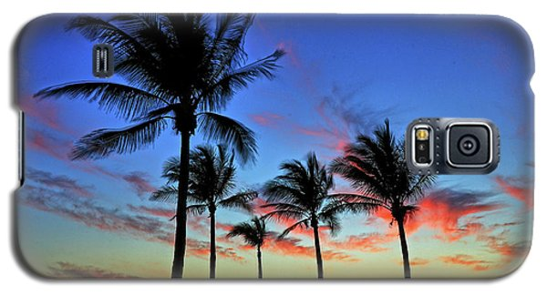 Galaxy S5 Case featuring the photograph Palm Tree Skies by Scott Mahon