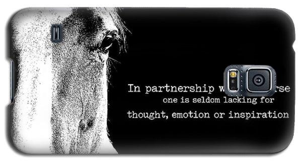 Palomino Partnership Quote Galaxy S5 Case