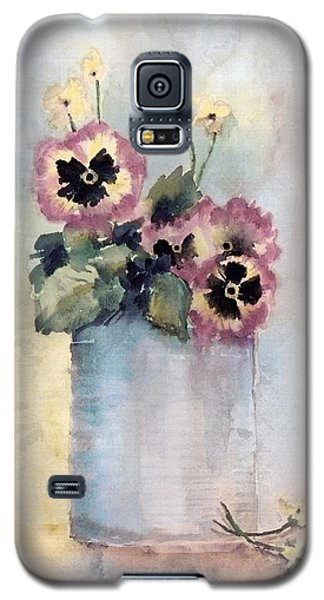 Pansies In A Can Galaxy S5 Case