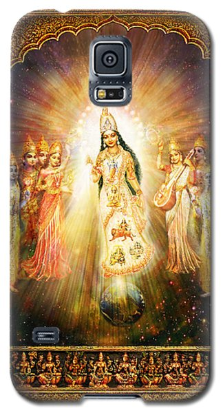 Parashakti Devi - The Great Goddess In Space Galaxy S5 Case by Ananda Vdovic