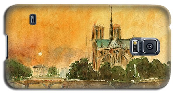 Paris Notre Dame Galaxy S5 Case by Juan  Bosco