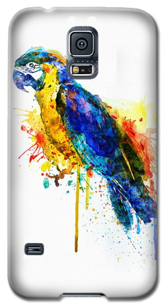 Parrot Watercolor  Galaxy S5 Case by Marian Voicu