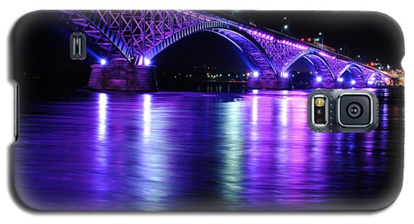 Peace Bridge Supporting Breast Cancer Awareness Galaxy S5 Case by Michael Frank Jr