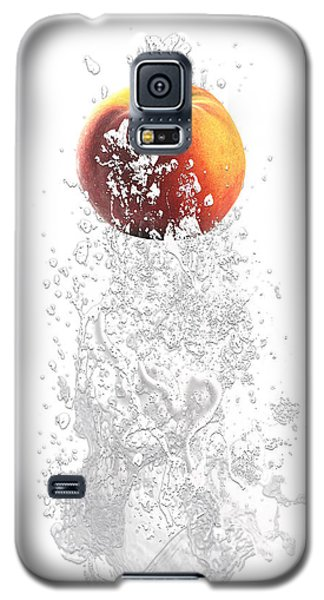 Peach Splash Galaxy S5 Case by Marvin Blaine
