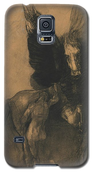 Pegasus And Bellerophon Galaxy S5 Case by Odilon Redon