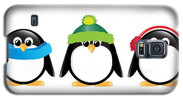 Penguins Isolated Galaxy S5 Case by Jane Rix