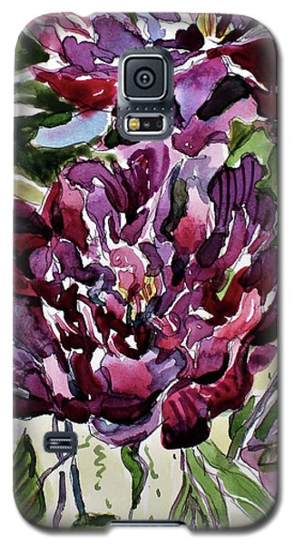 Galaxy S5 Case featuring the painting Peonies by Mindy Newman