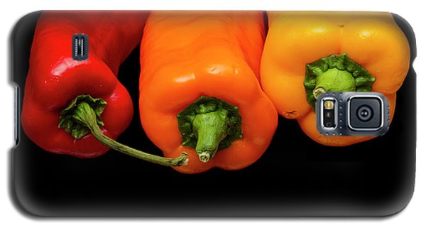 Galaxy S5 Case featuring the photograph Peppers Red Yellow Orange by David French