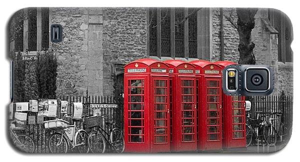Phonebox In Red Galaxy S5 Case by David Warrington