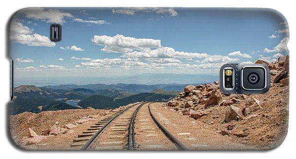 Pikes Peak Cog Railway Track At 14,110 Feet Galaxy S5 Case by Peter Ciro