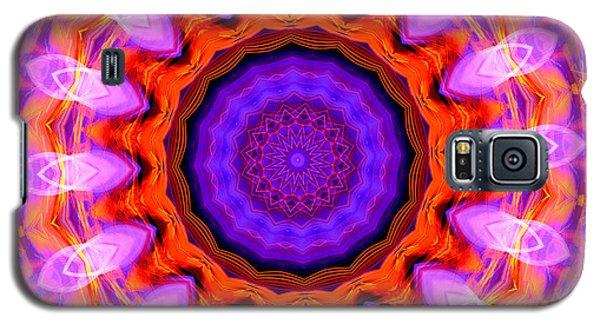 Pink 16-petals Kaleidoscope Galaxy S5 Case by Ernst Dittmar