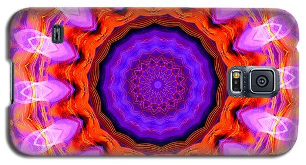 Pink 16-petals Kaleidoscope Galaxy S5 Case