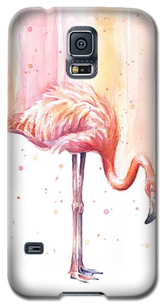 Pink Flamingo - Facing Right Galaxy S5 Case